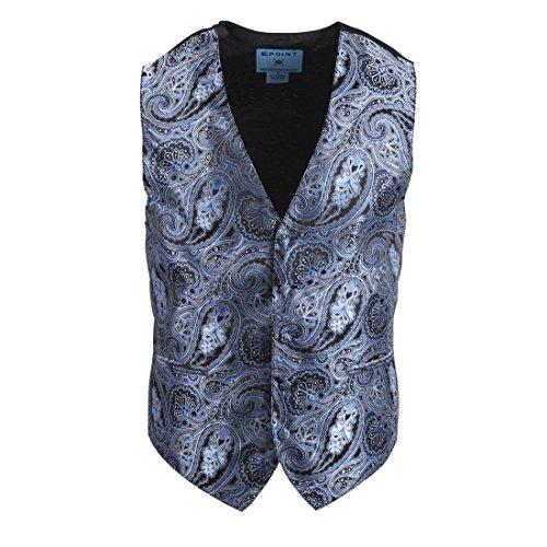 EGC2B03A-S Grau Blau Muster Microfiber Schwarz-R¨¹cken Kleid Tuxedo Weste Weste F¨¹r Freund Von Epoint (Tuxedo Freund)