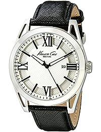 Kenneth Cole IKC8072 , Reloj con correa de acero para hombre, color blanco / gris