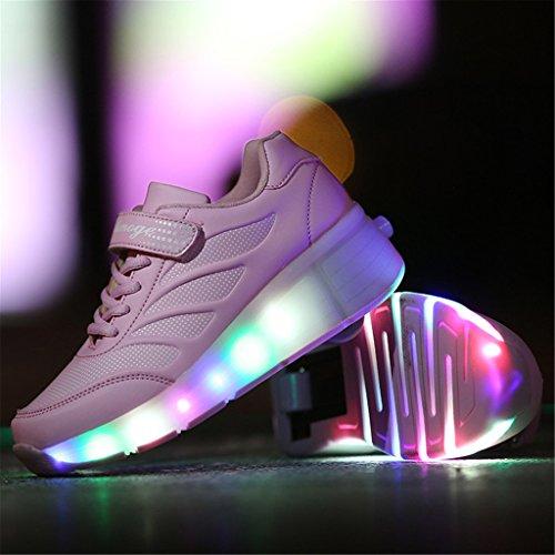 ... Wheelies Schuhe mit Rollen Rädern Skateboard Blinkschuhe Outdoor Sport  Kinderschuhe Led Licht Turnschuhe Leuchtend Sneaker Mädchen ...