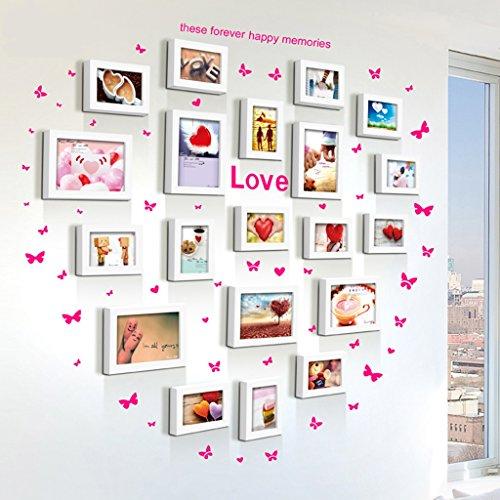 Home @ Wall Bilderrahmen Foto Wand Dekoration Bilderrahmen Wand Kreative Einfache Moderne Wohnzimmer Bilderrahmen Wand Kombination Wand ( Farbe : C , größe : 115*100CM )