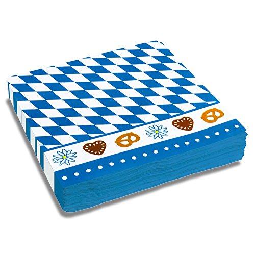 16-x-party-paper-napkins-serviettes-33-cm-set-of-20-napkins-bavaria-diamond-blue-white