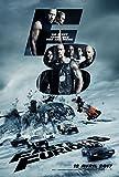 Cinema Fast & Furious 8-2017 - Vin Diesel, Dwayne Johnson, Jason Statham - 40x56cm - Affiche Originale
