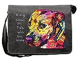 Hunde Motiv Umhängetasche für Hundehalter mit Hunde Tasche Canvas Gratitude Pitbull Hund Hundebesitzer Hundehalter Dog Hunde Artikel Dogs Hundefreund