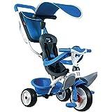 Smoby Toys- 741102- Tricycle Baby Balade 2, Tricycle Evolutif avec roues silencieuses, Dispositif roue libre, Bleu