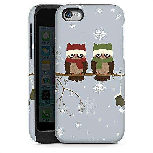 Apple iPhone 5s Housse étui coque protection Hibou Hibou Uhu Cas Tough brillant