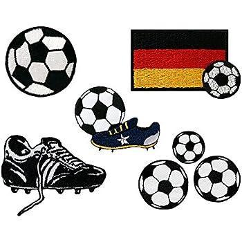 ad31 Deutschland Flagge Fußball Sport Aufnäher Applikation Bügelbild 9,5 x 6,5cm