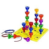 Learning Resources Spielset Steckstifte in Regenbogenfarben