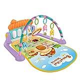 YxFlower Gimnasio-Piano pataditas/Alfombra de Juego Infantil/Play Mat for Kids/Manta Bebe con Arco de Juego y Bolas
