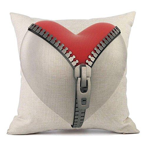 gallity 45cm x 45cm Happy Valentine 's Day Englisch Worte/Rose/Herz Werfen Kissen Fall Kissenbezug Sweet Love, quadratisch 45,7x 45,7cm L g