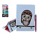 iPad Air Hülle, Deenor Bunt Painting und Stilvoll Brieftasche Tasche PU Leder Flip Protective Stand Tasche Schutzhülle