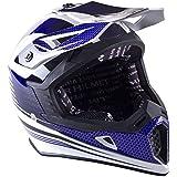 Viper Helmets RSX95 Casque de Moto, Blanc/Bleu, 59-60