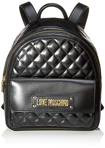 Love Moschino Borsa Quilted Nappa Pu, Zainetto Donna, Nero (Nero), 31x12x30 cm (W x H x L)