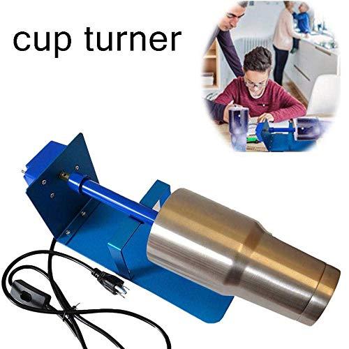 SEAAN Cup Turner Spinner für Epoxy Crafts Coating Tumbler mit professioneller Silent Balance Lenkwelle und Sicherheitsschalter Glitter Cups Metal Independence Single Spinner
