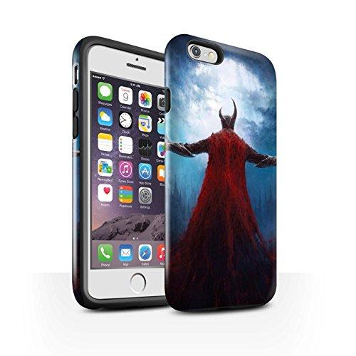 Offiziell Chris Cold Hülle / Glanz Harten Stoßfest Case für Apple iPhone 6S / Pack 6pcs Muster / Dämonisches Tier Kollektion Dunkelste Stunde