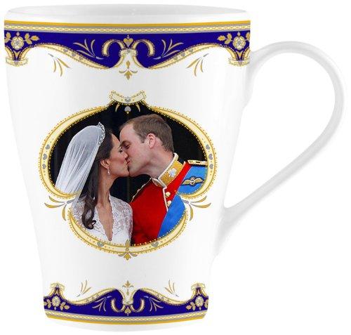 L&P Tasse en porcelaine fine de Chine Motif baiser de Kate et William au mariage