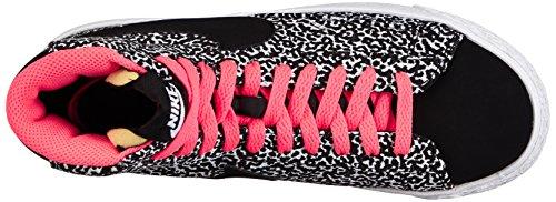 Nike Blazer Mid Vintage (Gs) 539930 Mädchen High-Top Sneaker Mehrfarbig (Black/White-Hyper Punch 010)