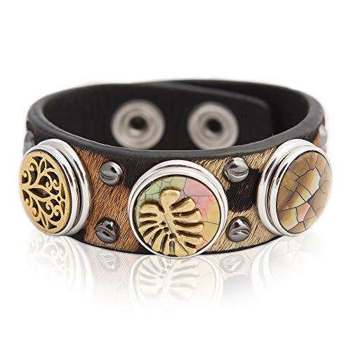 NOOSA ORIGINAL Armband PATTERN LEOPARD beige schwarz - ohne Chunks Größe M