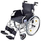 Aidapt VA165SILVER Deluxe Leichtgewichtiger Rollstuhl aus Aluminium, orange
