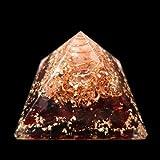 Cristaux Grenat naturelle Orgonite Pyramid/reiki Crytsal pyramides pour Guérir et Chakra Décoration 65mm avec étui