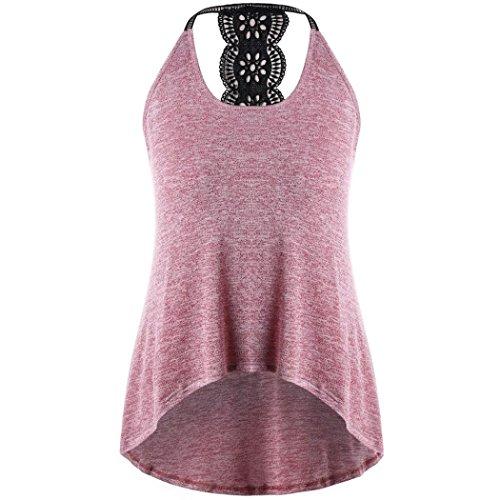 , New Plus Size Frauen Casual Print T-Shirt Tank Tops Cool Bluse(L4,Rosa) (Plus Size T Shirt Kostüme)