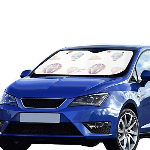 Preisvergleich Produktbild SHAOKAO Autofenster Auto Sonnenschutz Luftballon Niedlicher Ballon Faltbarer Sonnenschutz Für maximalen UV- und Sonnenschutz Halten Sie Ihr Fahrzeug kühl 140 x 75 cm (55 x 30 Zoll) großes Autofenster