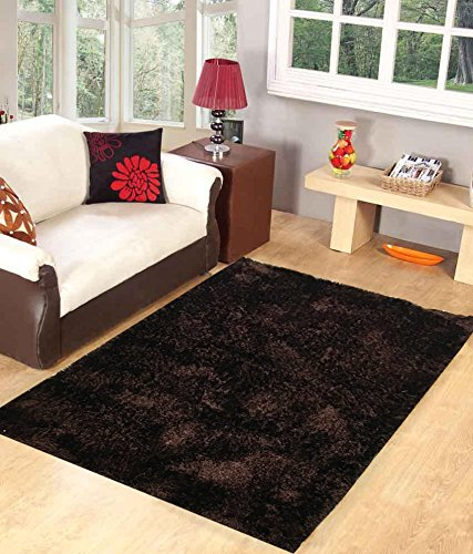 Homefab India Designer Coffee Fur Floor Carpet(90X150 cms)