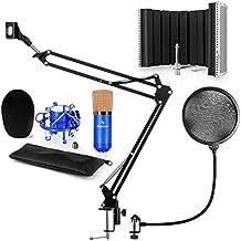 auna CM001BG V5 • Set Microfono USB Color Blu Oro • A Condensatore • Filtro 7fcb0212a861