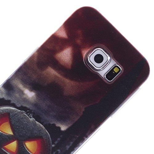 Vahalla Accesori Schutzhülle für Samsung Galaxy S6 Edge Gel Kürbis Halloween