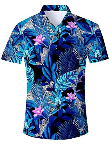 mden Shirts Hawaiihemd Sternhaufen des Nebelflecks 3D kühle Hemd beiläufige Kurzarm Hemden Shirts ()