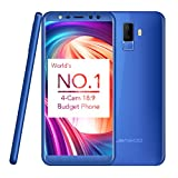 "Téléphone Portable Debloqué,Smartphone Pas Cher 3G,Leagoo M9 5.5"" Écran Quad Core 1.3GHz 8MP Quad Caméras 2 Go RAM + 16 Go ROM Extension de 32 Go Android 7.0 Langue Multinationale FOTA Améliorer de Leagoo Direct, Bleu"