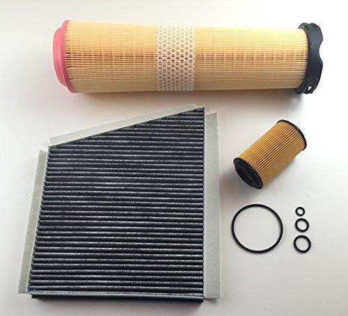 Preisvergleich Produktbild Ölfilter Luftfilter Aktivkohlefilter E-Klasse W211 S211 200 220 270 CDI