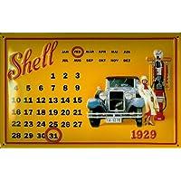 Targa in metallo Shell Oldtimer tankstelle Magnet