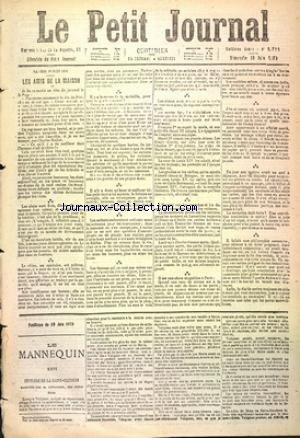 PETIT JOURNAL (LE) [No 2726] du 19/06/1870