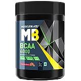 #3: MuscleBlaze BCAA 6000 Amino Acid Powder (Watermelon, 0.44 lbs/200g, 25 Servings)