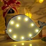 ZeWoo Cute Cactus Led Night Light, Lampade da parete per bambini, per bambini Regali, per Natale nozze camera Decorazione (Whale Light)