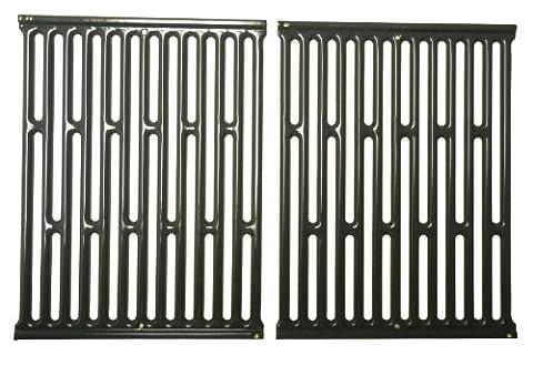 Music City Metals 58682 Set grilles de cuisson en acier émaillé (2 pièces) pour les grills à gaz de la marque Weber -