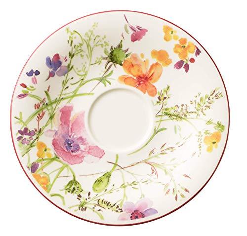 Villeroy & Boch 10-4100-1310 Mariefleur Basic Kaffee-Untertasse, 16 cm, Premium Porzellan Eine Untertasse