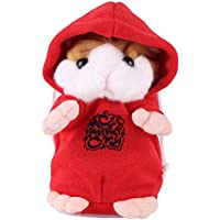 Fdit Cute Talking Hamster Sound Record Speaking Toy Rocking Hamster Stuffing Plush Electronic Toys Early Learning Children Kid Boy Girls Birthday Gift Festival Christmas(Red) - Compare prices on radiocontrollers.eu