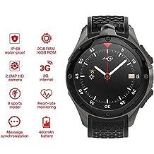 Smartwatch AllCall W2 (2018 actualizado), IP68 Impermeable 3G teléfono 2 GB RAM 16