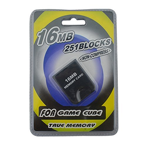 Link-e ® - Memory card 16mb (251 blocks, not compressed memory) for console Nintendo Gamecube (Memory Card Für Den Gamecube)