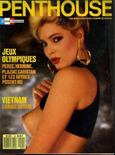 Penthouse, le magazine pour l'homme de demain n° 45 - jeux olympiques, perec, hermine, plaziat, caristan et les autres posent nu - vietnam, l'annee du sexe