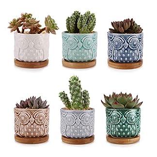 ComSaf Planta Maceta de Suculento Blanco 8.5CM Paquete de 3, Cactus Maceteros de Ventana Cajas Decoración para Mesa de Comedor Sala de Estar Idea Regalo para Cumpleaños Boda Navidad