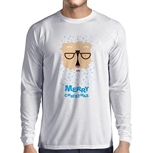 T-Shirt mit langen Ärmeln Lustige Weihnachtst-shirt Weihnachtsgeschenke Weiß Mehrfarben