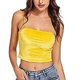 Dorical Magliette da Donna Canotta da Donna con Collo a U in Tinta Unita Imbracatura Regolabile Abito da Spiaggia Camicia Sling Top Vestito Elegante