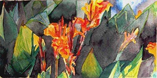 Aquarellbild. Provokativ Aquarell auf Papier. Einzelarbeit. 16,5 x 34 cm. Mehrfarbig Bild von einem...