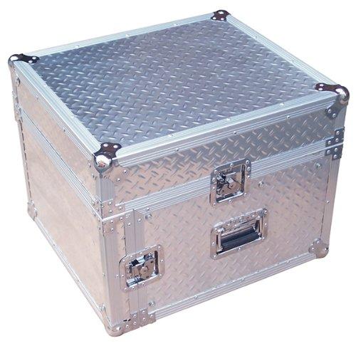 Silver Professional 6U Full Flight Rack Case with 10U Mixer Top SP6UM