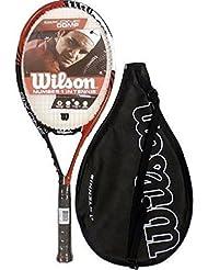 Wilson Six One Comp - Raqueta de tenis, talla de agarradera L3, incluye funda