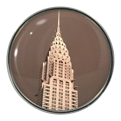 Price comparison product image Chrysler Building Scene Design Metal Pin Badge