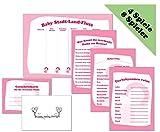 HappybabypartyDE Babyparty Spiele-Set rosa mit 4 Spielen für je 8 Spieler in...