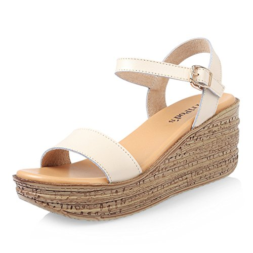 Ms summer wedge Sandals/chaussures plateforme simple et confortable/Chaussures plateforme polyvalente A